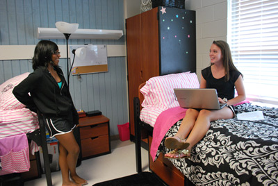 Interior dorm room at Southern Union State Community College